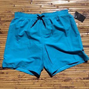 NIKE Men's XL Swim Trunks Shorts Aqua Blue NEW
